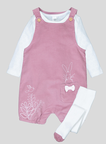 'Guess How Much I Love You' Pink Bibshort Set (0-24 months)