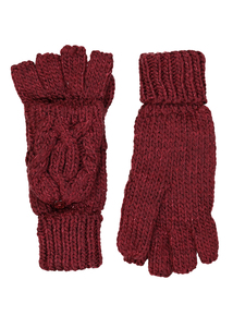 Berry Red Flip Mitt Gloves