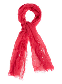 Pink Sequin Scarf
