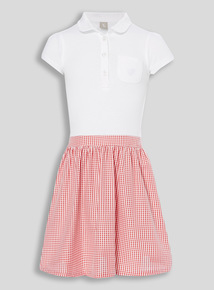 2 In 1 Red Gingham Dress (3 - 12 years)