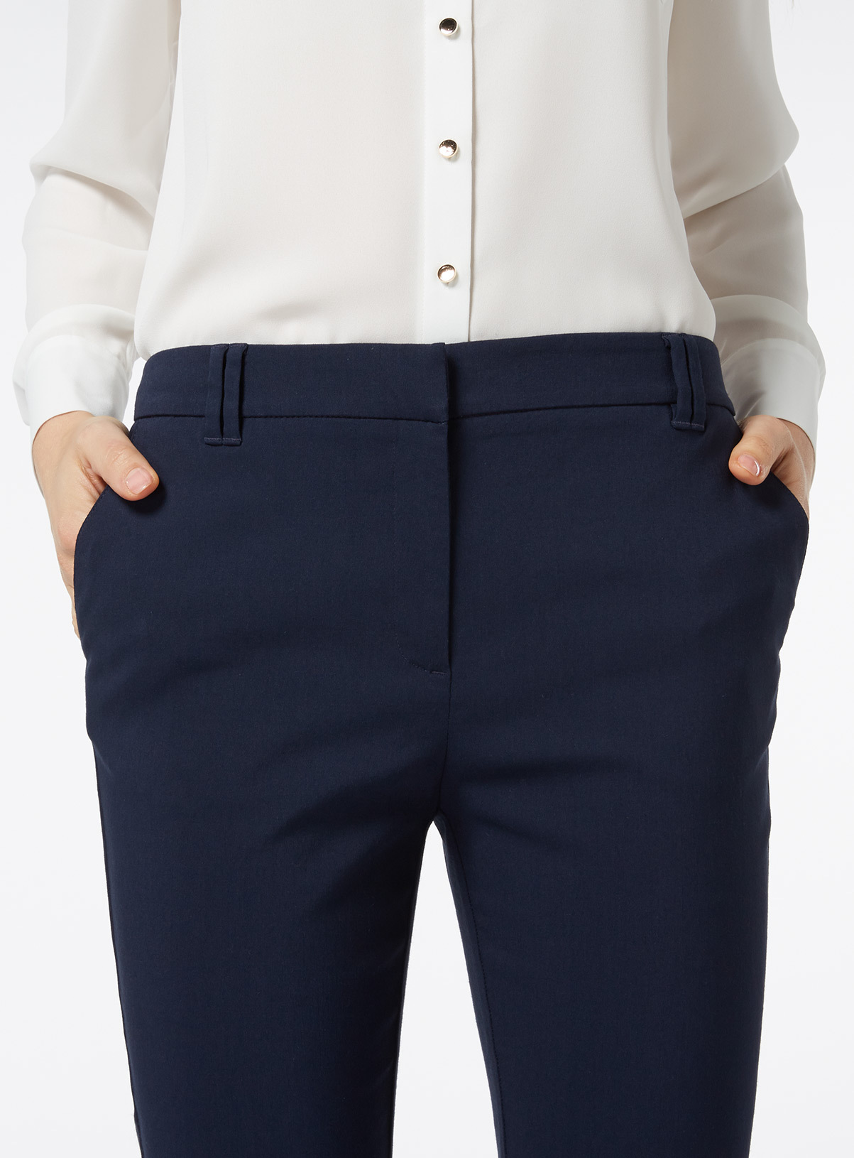 Navy bootcut trousers ladies