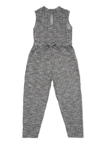 Girls Grey Ribbed Jumpsuit (3-12 years)