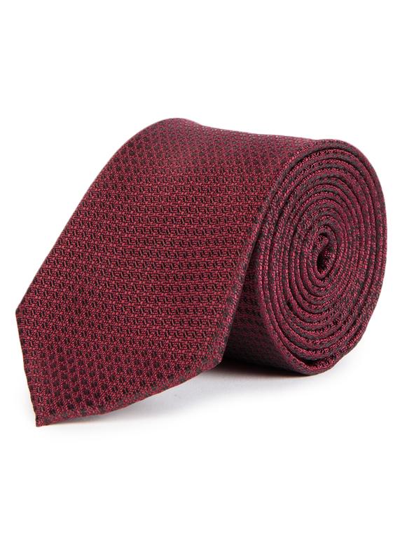 Red Textured Tie