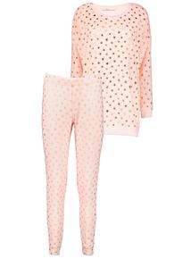 Pink Gold Star Twosie Pyjamas