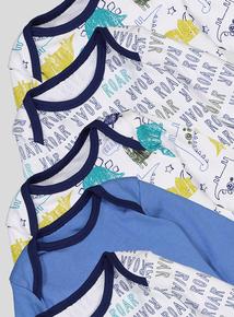 Multicoloured Bodysuits 5 Pack (Newborn - 3 years)
