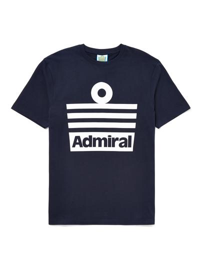 Mens Admiral Navy Logo T-shirt