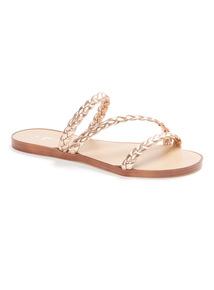 Gold Plaited Sandals