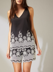 Premium Monochrome Embroidered Camisole