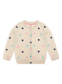 Girls Cream Embroidered Cardigan (9 months-6 years)