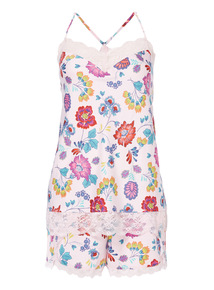 Floral Satin Pyjama Set
