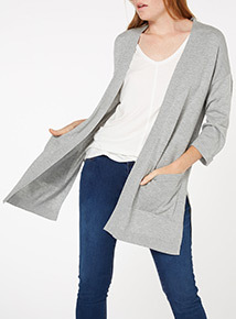 Grey Longline Cardigan