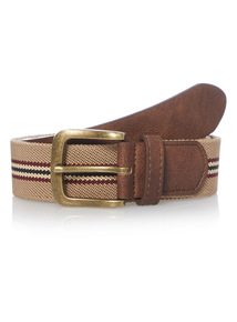 Stone Stripe Canvas Belt