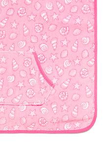 Pink Shell Poncho Towel