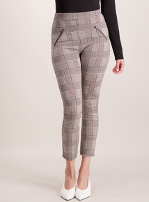 Grey Check Ponte Leggings