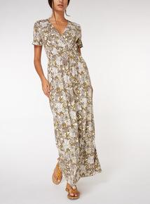 Safari Print Maxi Dress