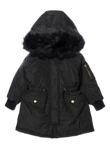Black Puffa Parka (3 - 12 years)
