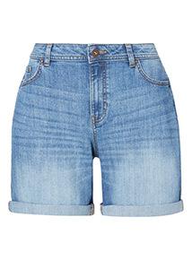 Mid Denim Boy Shorts