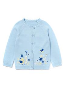 Blue Bird Embroidered Cardigan (0-24 months)