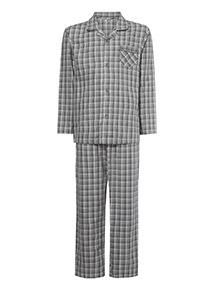 Grey Checked Traditional Pyjamas