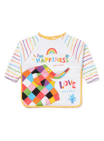 Multicoloured Elmer Long Sleeve Bib