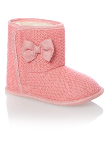 Girls Pink Knitted Boots (0-24 months)