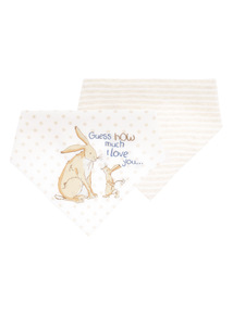 Boys Oatmeal Guess How Much I Love You Hanky Bibs (0-24 months) 2 Pack