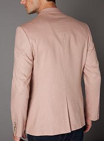 Pink Linen Suit Slim Fit Jacket
