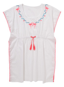 Multicoloured Flamingo Kaftan Dress (3 - 12 years)