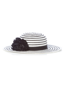 Black and White Floppy Hat (2 - 12 years)