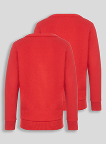 Red Sweat Cardigan 2 Pack (3-12 years)
