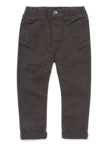 Charcoal Self Rib Waist Trousers (9 months-6 years)