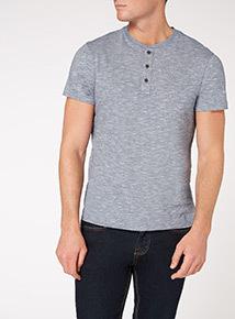 Blue Stripe Grandad T-shirt