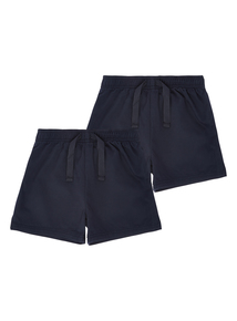 Unisex Navy Rugby Shorts 2 Pack (3-12 years)
