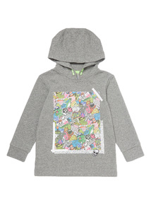 Grey Graphic Hoodie (3 - 14 years)