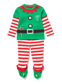 Green Christmas Elf Pyjama Set (0-24 months)