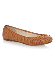 Tan Ballerina Shoes