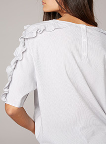 Premium Striped Frill Shirt