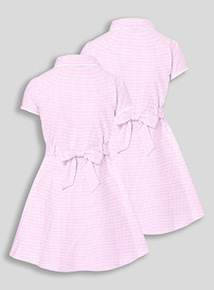 2 Pack Pink Classic Gingham Dresses (3-12 years)