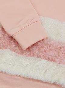 Pink Fur Panel Sweatshirt (3-14 years)