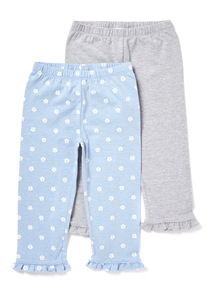 2 Pack Multicoloured Frill Leggings (9 months-6 years)