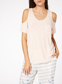 Cold Shoulder Night Top
