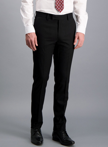 Online Exclusive Black Slim Fit Dinner Suit Trousers