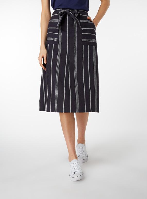 Striped Full Skirt