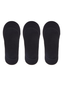 Black Core Footsie Socks 3 Pack