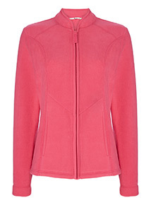Online Exclusive Pink Zip Up Fleece