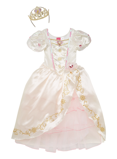 Fancy Dress Girls Cream Rapunzel Bride Dress (3-10 years) | Tu clothing