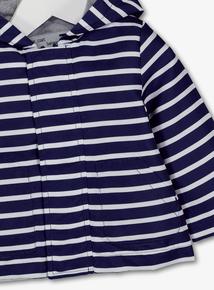 Navy Stripe Shower Resistant Jacket (0-2 years)
