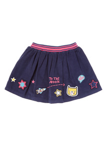 Multicoloured Cat Badge Skirt (9 months-6 years)