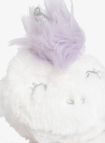 Kids Glitter White Unicorn Ear Muffs (One Size)