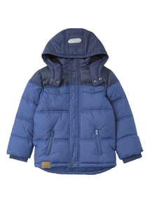 Boys Blue Puffer Jacket (3 - 12 years)